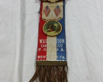 Whitehead & Hoag co P.O.S. of A. Early 1900's Ribbon