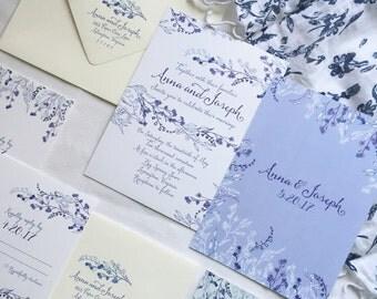Spring Floral Wedding Invitation Sample