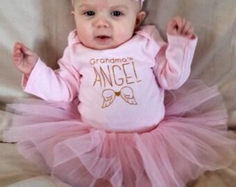 Baby girl newborn pink tutu & headband.