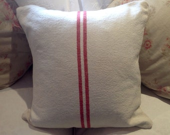 Cushion Made from French Grainsack Linen
