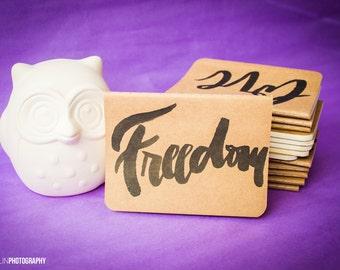 FREEDOM // Calligraphy Pocket Notebook