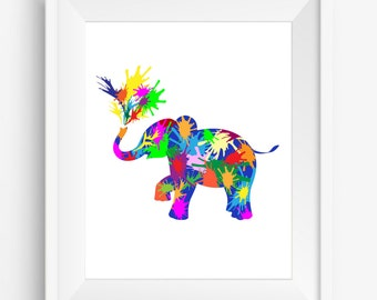 Elephant, illustration animal,elephant prints, watercolor,digital prints,nursey decor,home decor,jpeg,300 dpi