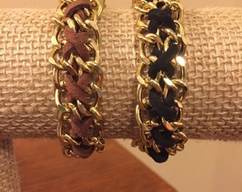 Leather Lace Chain Bracelet