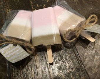Shea Butter Neopolitan Ice Cream Soap, Decorative Soaps, chocolate, vanilla, strawberry essential oil, Soap, Handmade Soap