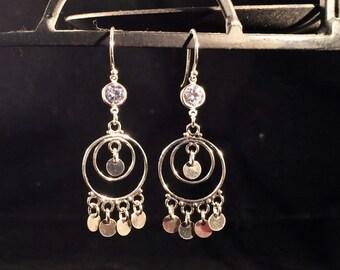 Exotic Sterling Silver Bohemian Chandelier Earrings