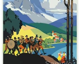 Vintage Austria Travel Poster Print
