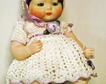 """Reporo doll """"Tynie Baby"""", bisque, ca. 18 cm"""
