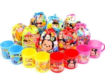 Disney Tsum Tsum Gift Bag  and  Mug - SET with 8 - Party Bag - Candies and Sweets
