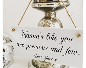 Personalised Nanna's Like You Plaque Sign