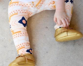 Desert Sand Aztec Leggings for Baby, Toddler & Girls