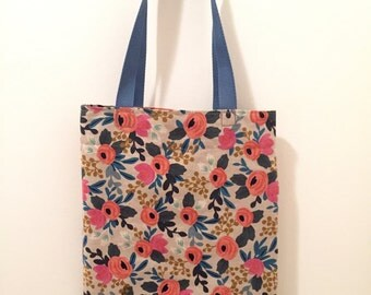Handmade Rifle Paper Co Les Fleurs Tote Bag