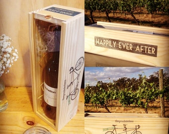Wine Box / Wedding Gift / Wedding Wine Box