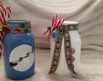 Homemade Decorated Christmas Canning Jars - 32 oz