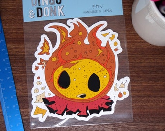 Burning Up! Large Flame Sticker Decal