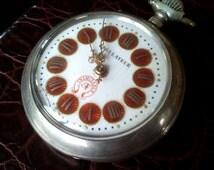 INIMITABLE BAF – A. BOILLAT & Fils La Chaux-de-Fonds Pocket Watch, 1890's Swiss Pocket Watch,800 Silver Case Pocket Watch, Swiss Regulateur