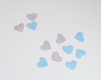 50 Heart Confetti White & Grey
