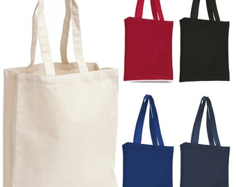 Canvas Tote Bag / Book Bag with Gusset,Small Size, Great for Daily Use, Totes, Natural Cotton