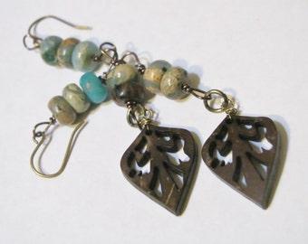 Woodland Earrings, Boho, Beaded earrings, Womens, Girls