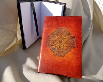 journal, artist sketchpad, notepad,Horween leather, book cover, built in book mark