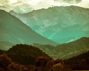 Mountains - Mountain Forest - Mountains Photo - Green - Landscape - Digital Photo - Digital Download - Instant Download - Living Room Decor