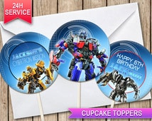 Transformers Cupcake toppers Optimus Prime BumbleBee digital printable cupcake toppers