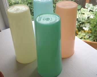 Tupperware Cups Stacking Cups 4 Pastel Tupperware Stacking Cups Retro Kitchen Cupboard
