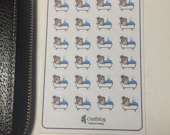 Bath/ Tub Time Planner Stickers!