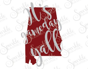 Alabama It's Game Day Cut File Alabama SVG Bama Football SVG Alabama Football  Svg Dxf Eps Png Silhouette Cricut Cut File Commercial Use