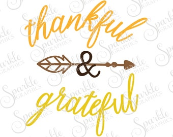 Thankful And Greatful Cut File Arrow svg  Boho SVG Thanksgiving SVG  Clipart Svg Dxf Eps Png Silhouette Cricut Cut File Commercial Use SVG