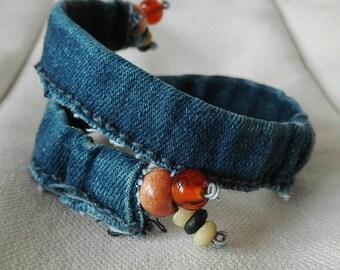01-denim Wrap bracelet