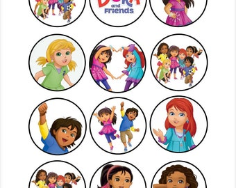 Dora And Friends Etsy - Dora birthday cake toppers
