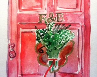 Farrow and Ball London Door: Rectory Red