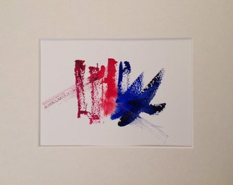 small original abstract watercolor painting for IKEA frame