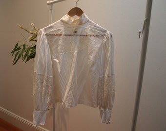 Victorian Sheer Lace Blouse