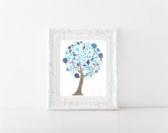 Abstract Watercolor Tree Print