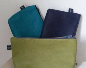Learn makeup bag/pouch in different colors.
