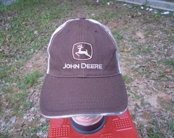 RARE Vintage JOHN DEERE Heavy Machine cap hat free size for all