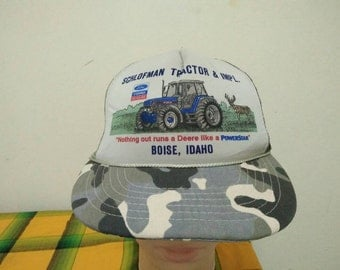 Rare Vintage TRACTOR & IMPL | Boise | Idaho Cap Hat Free size fit all