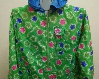 Rare Vintage OILILY Flowers Full Printed Jacket