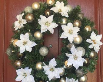 Christmas in July**, Christmas wreath, lighted wreath, Christmas decor, holiday decor