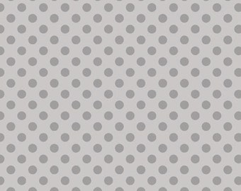 Spot On Grey - Robert Kaufman - HALF YARD - Cotton Fabric - Quilting Fabric