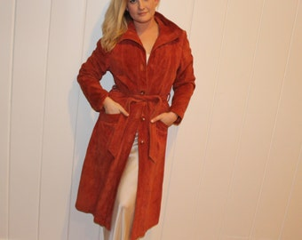 1970s Suede Trench Coat
