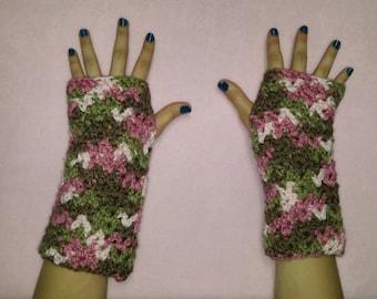 Multi colored wrist warmers