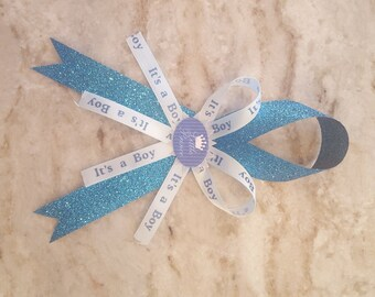 Baby Shower Pin, Baby Shower Corsage Boy, Its a Boy Pin, Mom to be Pin, Dad to be Pin, Grandma To Be Corsage, Baby Shower Capia, Capia Pin