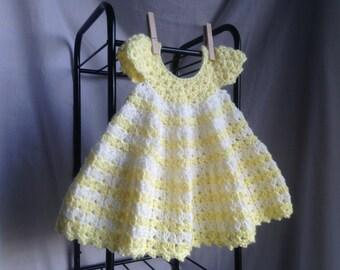 Crochet PATTERN - baby dress crochet pattern, summer crochet baby dress, easy crochet baby dress, easy baby crochet pattern, crochet dress