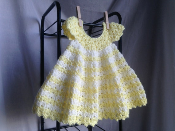 Crochet PATTERN - baby dress crochet pattern, summer crochet baby dress