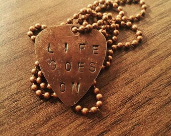 Life Goes On - Natural Brass