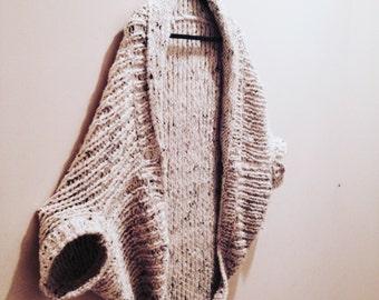 Cardigan Kimono Sweater Hand Knitted