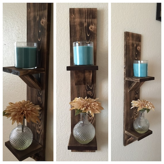 Wall Sconce Height Dining Room : Wood Wall Sconce Double Stand Dining Room Sconce Farmhouse
