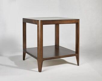 Walnut Mid Century Side Table, Mid Century End Table -Ekais BQ Line